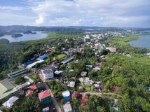 科罗尔镇在帕劳群岛 库存照片