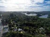 科罗尔镇在帕劳群岛 免版税库存照片