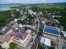 科罗尔,帕劳- 2016年12月03日:科罗尔镇在帕劳群岛 免版税库存图片