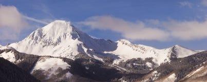 科罗拉多冬天全景横向 免版税图库摄影