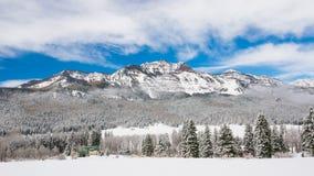 科罗拉多冬天山 图库摄影