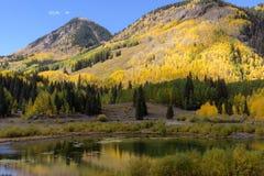 科罗拉多圣胡安山在秋天 免版税图库摄影