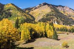 科罗拉多圣胡安山在秋天 免版税库存图片