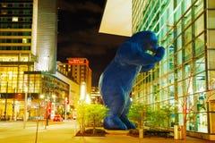 科罗拉多在夜间的会议中心 免版税库存照片