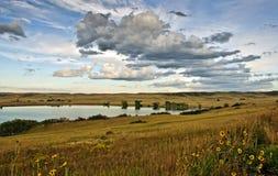 科罗拉多大农场风景远景 免版税库存图片