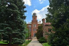 科罗拉多大学巨石城老主楼 图库摄影