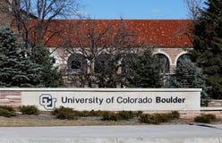 科罗拉多大学巨石城 库存图片