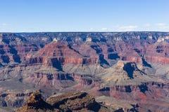 科罗拉多大峡谷,从南外缘,亚利桑那 库存照片