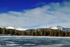 科罗拉多山冬天 库存图片