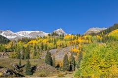科罗拉多山风景在秋天 库存图片