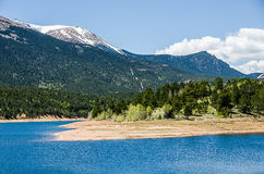 科罗拉多岩石Mountainlake 免版税库存照片
