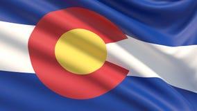 科罗拉多州旗子 标记状态美国 向量例证