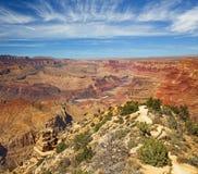科罗拉多河全景在大峡谷 库存照片