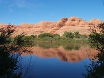 科罗拉多河反射 免版税库存图片