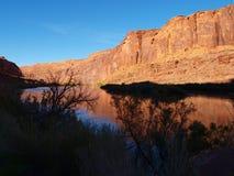 科罗拉多河反射 库存图片