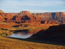 科罗拉多河反射 库存照片