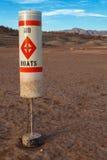 科罗拉多河和米德湖天旱水平面 免版税库存图片