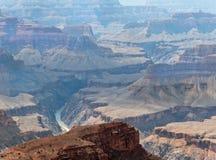科罗拉多河在大峡谷,亚利桑那 图库摄影