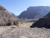 科罗拉多河在大峡谷 库存图片