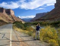 科罗拉多河场面 免版税库存照片