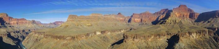 科罗拉多河大峡谷宽亚利桑那全景风景风景视图 免版税库存照片