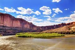 科罗拉多河岩石峡谷默阿布犹他 库存图片