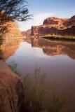 科罗拉多河岸HWY 128拱门国家公园犹他 库存图片