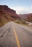 科罗拉多河岸HWY 128拱门国家公园犹他 库存照片