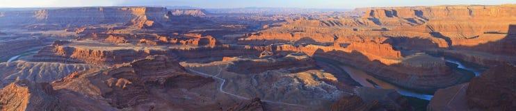科罗拉多河峡谷全景 免版税库存照片