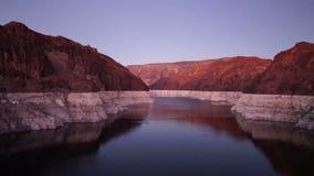 科罗拉多河流动入胡佛水坝 股票录像