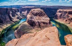 科罗拉多河的美丽如画的弯 大峡谷吸引力 库存图片