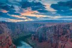 科罗拉多河看法日落的 页 arizonian 美国 免版税库存照片