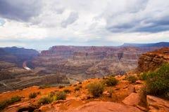 科罗拉多河和大峡谷 免版税库存图片