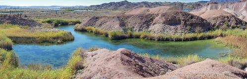科罗拉多河死水-全景 库存照片