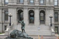 科罗拉多状态国会大厦建筑学 免版税库存照片