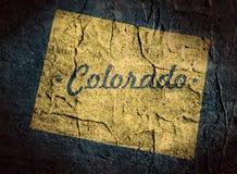 科罗拉多状态地图 免版税库存照片