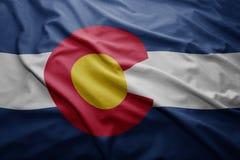 科罗拉多状态旗子  库存图片