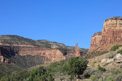 科罗拉多独立纪念碑国民岩石 免版税库存照片
