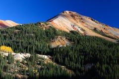 科罗拉多秋天上色落矶山红色山口 免版税图库摄影
