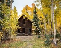 科罗拉多秋天风景-采矿鬼城 库存图片