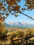 科罗拉多秋天风景 库存照片