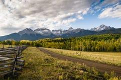 科罗拉多秋天风景- Sneffels范围 免版税图库摄影