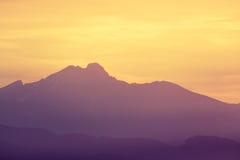 科罗拉多落矶山脉日出日落 库存照片