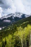 科罗拉多落矶山脉风暴 免版税库存照片