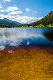 科罗拉多落矶山脉Lily湖 图库摄影
