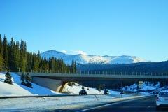 科罗拉多高速公路风景 库存照片