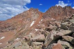 科罗拉多14er,阳光峰顶,圣胡安范围,落矶山在科罗拉多 免版税库存照片
