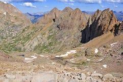 科罗拉多14er,登上Eolus,圣胡安范围,落矶山在科罗拉多 免版税图库摄影