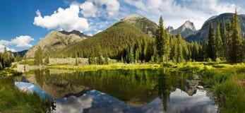 科罗拉多Mountain湖全景 库存图片