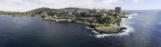 科罗纳多全景海湾的桥梁 免版税图库摄影